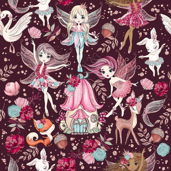 New Fairies Woodland pre order 1 yard CL 260 gsm