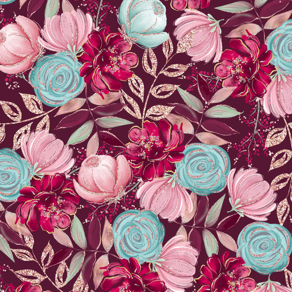 New Woodland Floral 1 yard CL 260 gsm