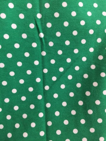 Green  with Small White Dots 1 yard 25""