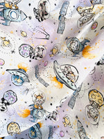 Space cuties CL knit , 260 gsm, 1 yard in stock