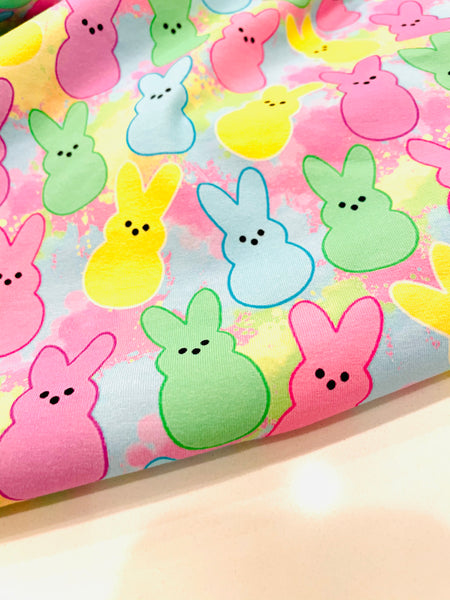 Easter Peeps 1 yard CL knit 260 gsm
