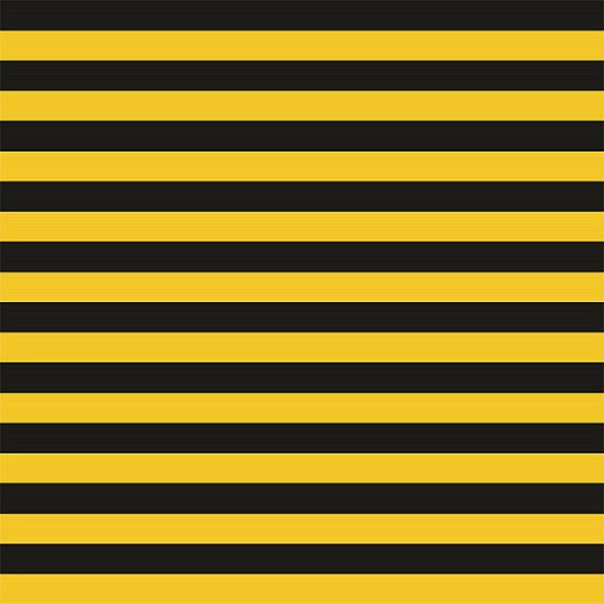 "Knit Black Yellow 1/2 "" Stripes"