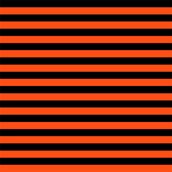 Orange black stripes CL knit 1 yard