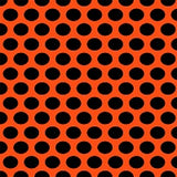 Knit Orange with Big Black Dots
