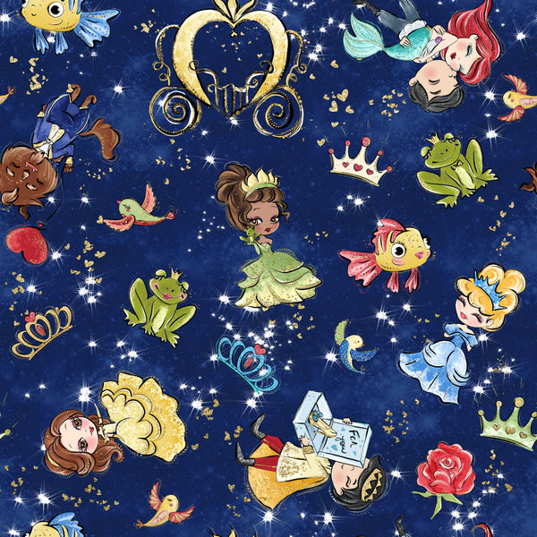 Fairytale All princesses 10 CL knit , 260 gsm, 1 yard
