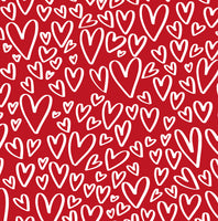 Valentine hearts  CL knit , 260 gsm, 1 yard