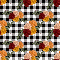 New Floral Pumpkin patch 1 yard CL 260 gsm