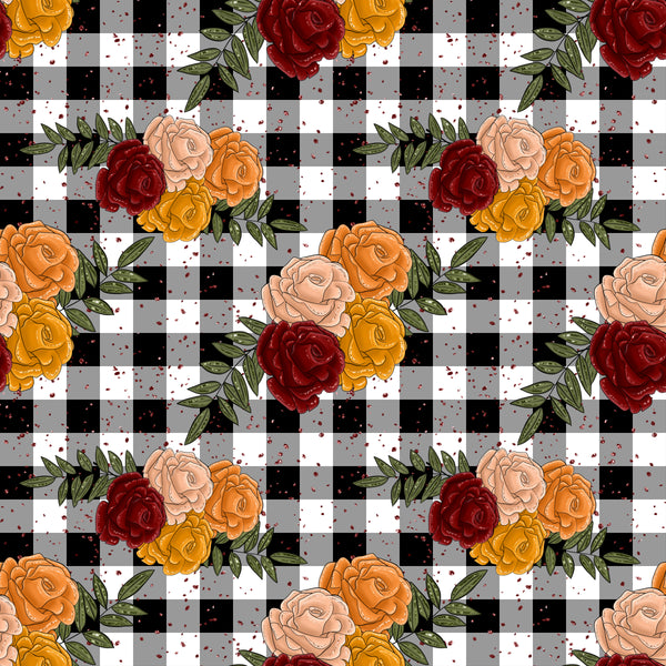 New Floral Pumpkin patch 1 yard CL 260 gsm WILL ship August 15