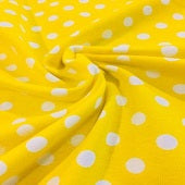 Knit Bright Yellow dots  in stock