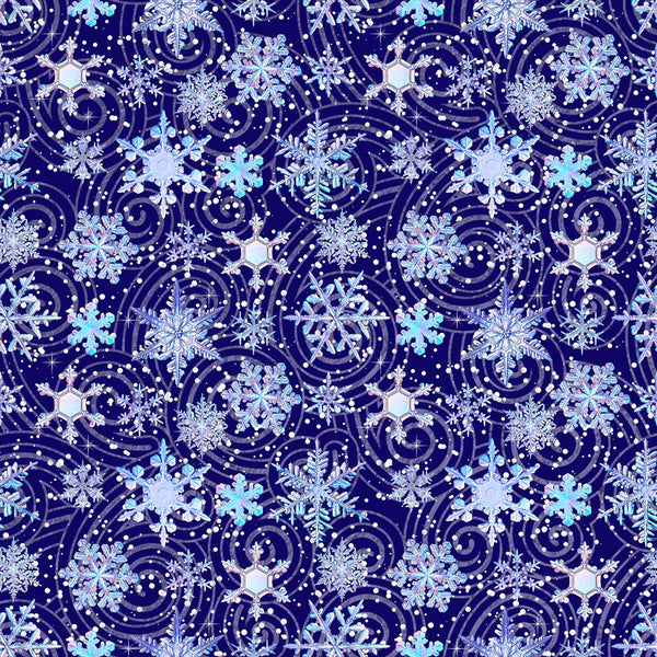 Snowflakes 005 1 yard CL knit 260 gsm in stock