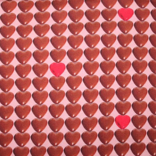 Euro Oeko-Tex Knit Chocolate Hearts