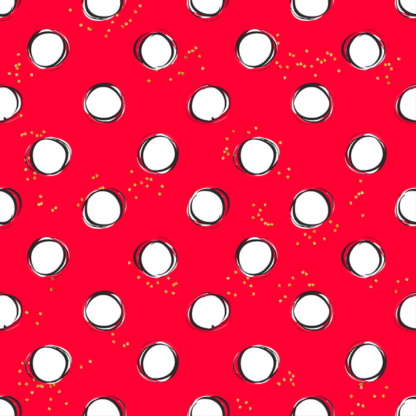 Magical  dots 004 CL knit , 260 gsm, 1 yard