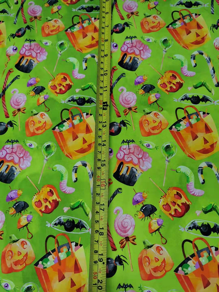 Green New Preorder Halloween 1 yard CL