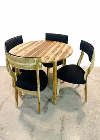 4 Seater Round Acacia Dining Table and Chairs