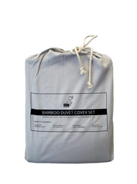 Bamboo Duvet Cover Set in Silver Gray