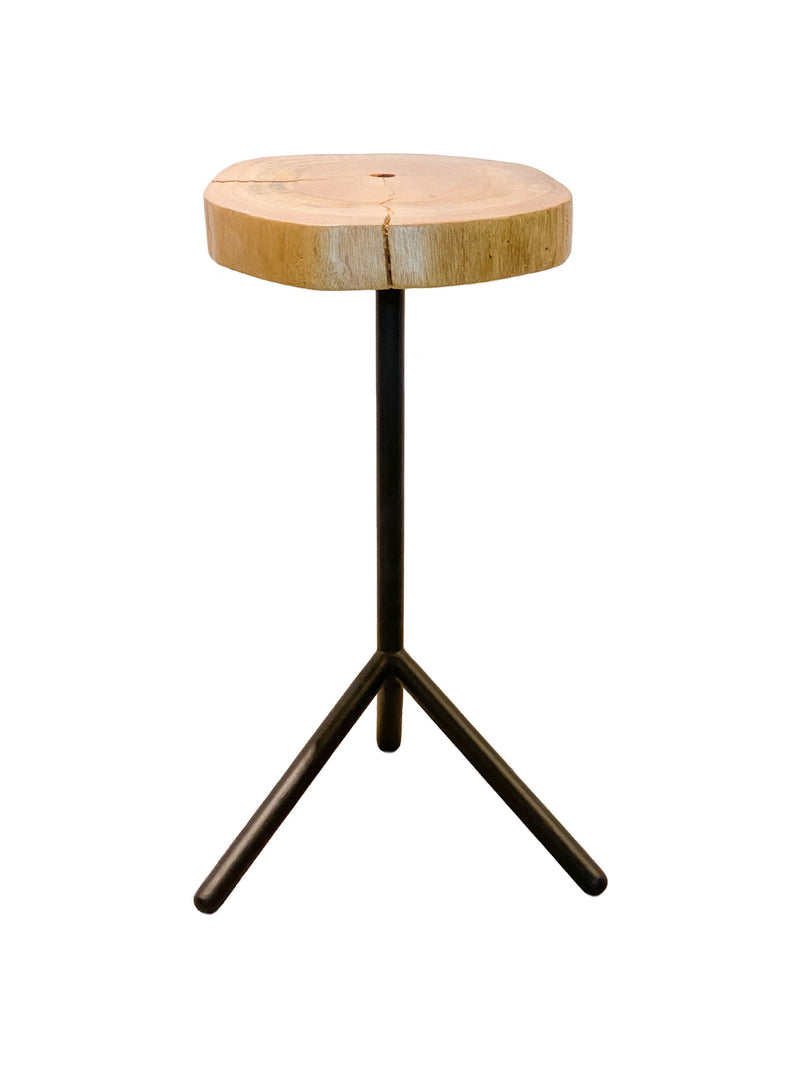 Live Edge Tripod End Table