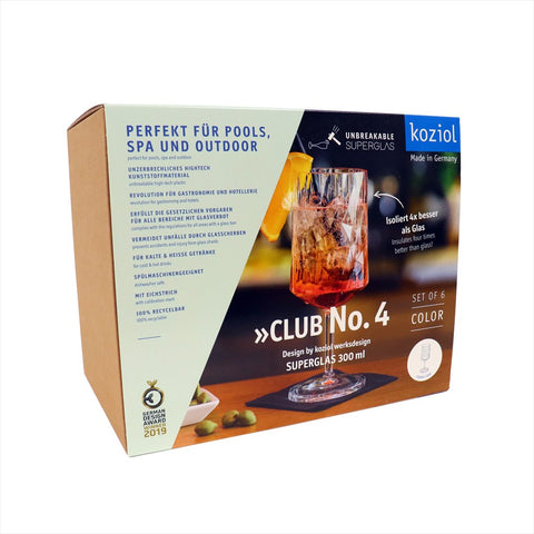 Koziol CLUB NO. 4 Vinglas 6-pack 350ml, crystal clear