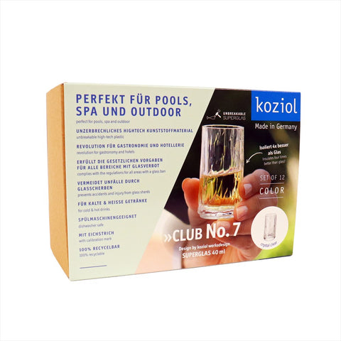 Koziol CLUB No.7 Shotglas / Snapsglas 12-pack, crystal clear