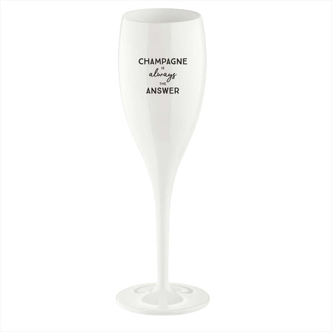 KOZIOL - Champagne Is The Answer, Champagneglas - 6-pack