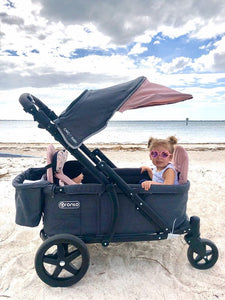 Pronto One Stroller - Pink with black frame - Starter package