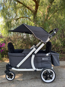 Pronto One Stroller - City Black with white frame - Starter package