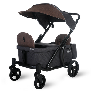 Pronto One Stroller - Brown with black frame - Starter package