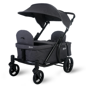 Pronto One Stroller - Dark Grey with black frame - Starter package