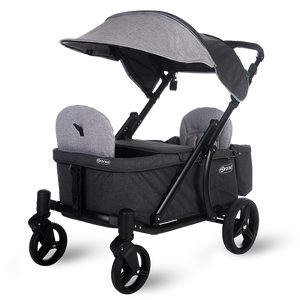 Pronto One Stroller - Grey with black frame – Starter package