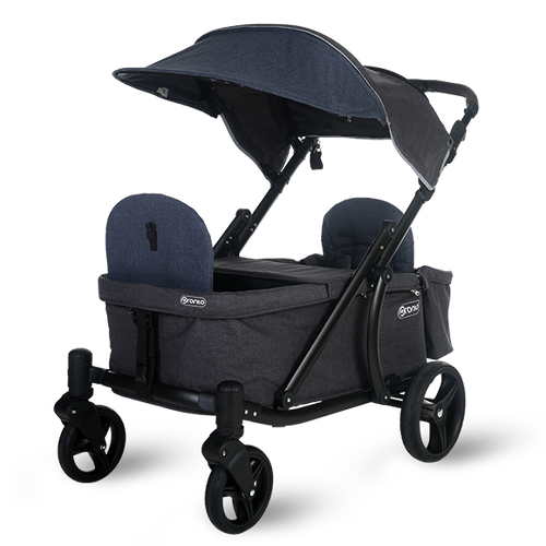 Pronto One Stroller - Navy with black frame - Starter package