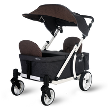 Load image into Gallery viewer, Pronto One Stroller - Brown with white frame - Starter package