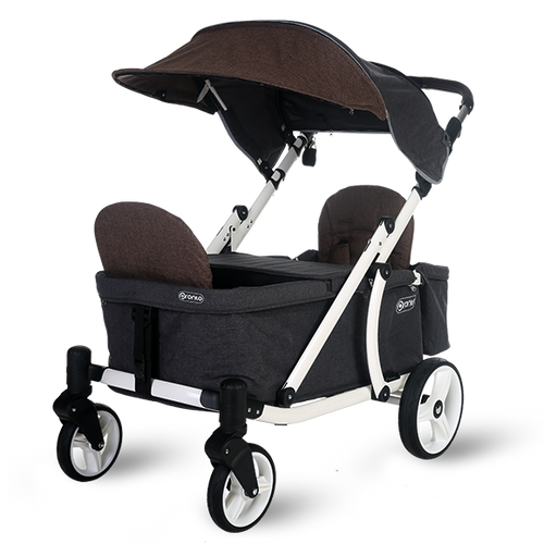 Pronto One Stroller - Brown with white frame - Starter package