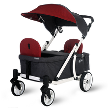 Load image into Gallery viewer, Pronto One Stroller - Burgundy with white frame - Starter package