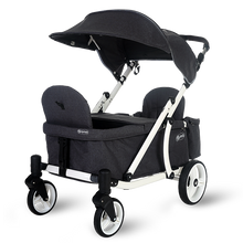 Load image into Gallery viewer, Pronto One Stroller - Dark Grey with white frame - Starter package