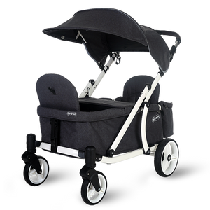 Pronto One Stroller - Dark Grey with white frame - Starter package