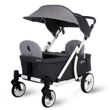 Load image into Gallery viewer, Pronto One Stroller - Grey with white frame - Starter package