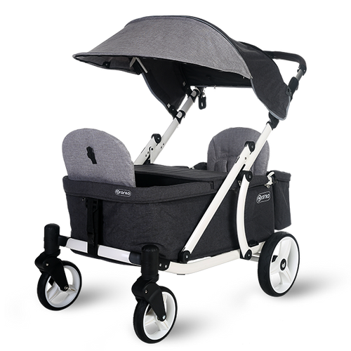 Pronto One Stroller - Grey with white frame - Starter package