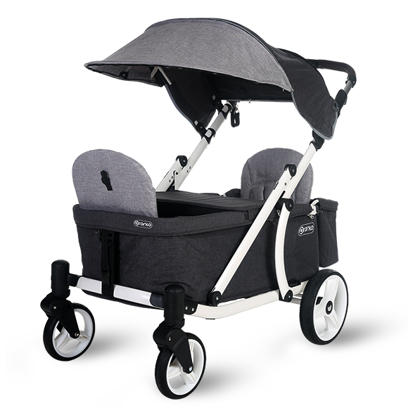 Pronto One Stroller- Grey with white frame - Starter package