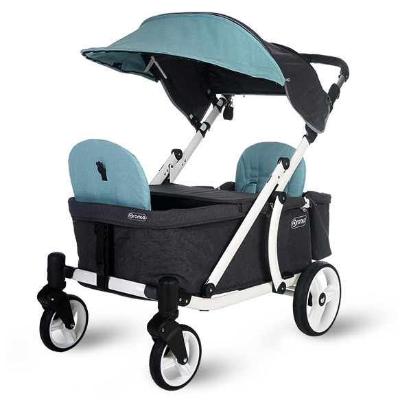Pronto One Stroller - Mint with white frame - Starter package