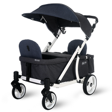 Load image into Gallery viewer, Pronto One Stroller - Navy with white frame - Starter package