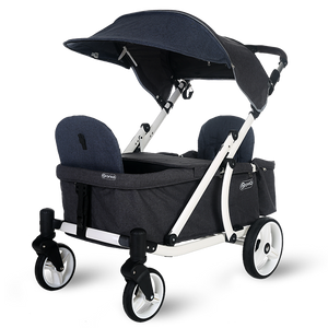 Pronto One Stroller - Navy with white frame - Starter package