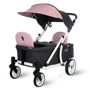 Pronto One Stroller - Pink with white frame - Starter package