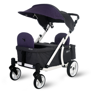Pronto One Stroller - Purple with white frame - Starter package