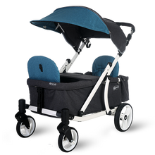 Load image into Gallery viewer, Pronto One Stroller - Dark Teal with white frame - Starter package