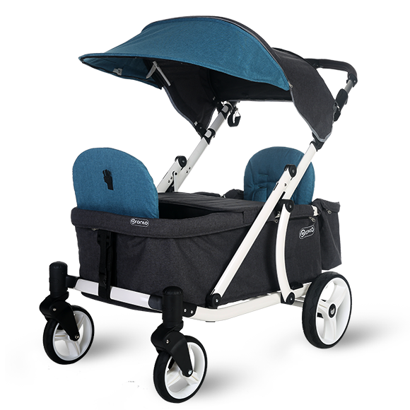 Pronto One Stroller - Dark Teal with white frame - Starter package