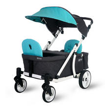 Load image into Gallery viewer, Pronto One Stroller - Robin Egg Blue with white frame - Starter package