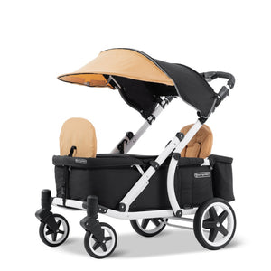 Pronto One Stroller - Ginger Yellow with white frame - Starter package