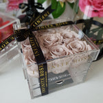 Infinite Rose | Small Acrylic Box with Drawer in Nude | Real Roses That Last A Year