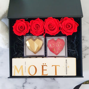 Infinite Rose | I Heart You Too Gift Hamper | Valentine's Day