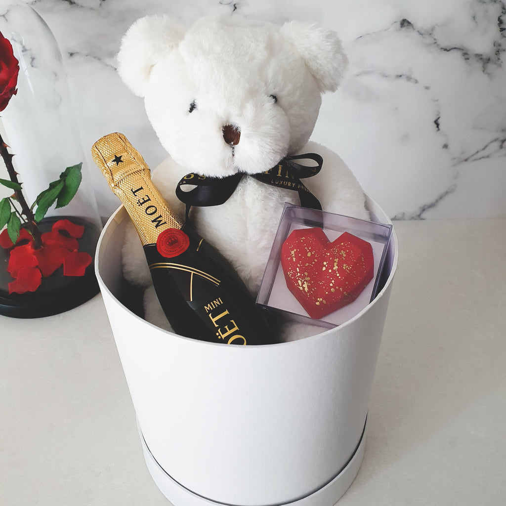 Infinite Rose | Teddy & Heart Gift Hamper | Valentine's Day