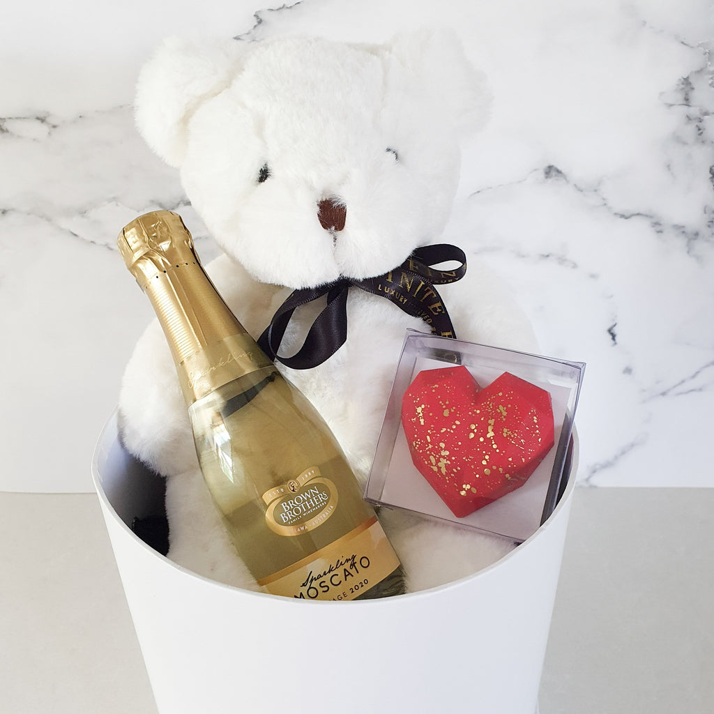 Infinite Rose | Teddy & Moscato Gift Hamper | Valentine's Day